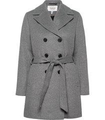 byabia coat - wollen jas lange jas grijs b.young