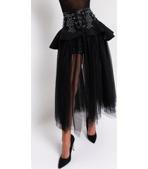 akira fit for a queen rhinestone lace up corset skirt