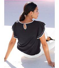 blus amy vermont svart::vit