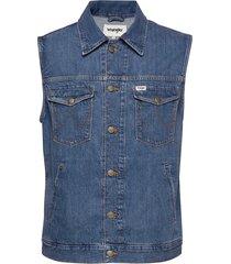 denim vest jeansjack denimjack blauw wrangler
