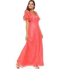 vestido coral season simona