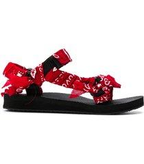 arizona love scarf-tied flat sandals - red