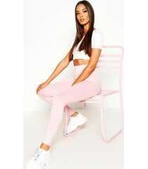 basic deep high waist leggings, coral blush