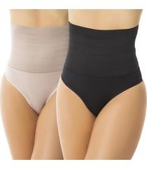 kit fristyle 2 cinta modeladora compressão feminina - feminino
