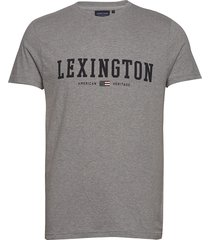 justin tee t-shirts short-sleeved grå lexington clothing