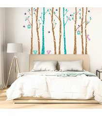vinilo tingo tango bosque de abedules-media pared 190x130 cm
