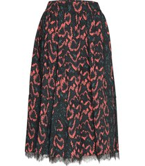 python lace trim skirt knälång kjol multi/mönstrad calvin klein