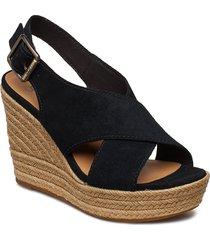 w harlow sandalette med klack espadrilles svart ugg