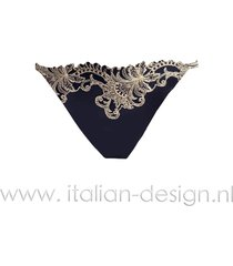 ambra lingerie slips titanium tanga blauw 1435