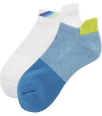hot sox women's 2-pk. colorblocked low-cut socks