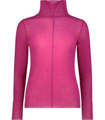 vibrant high neck blouse