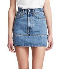 femme utility mini denim skirt