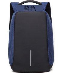 mochila de paño de oxford mochila ocasional de la-azul