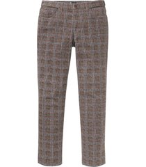 regular fit 5-pocket broek met print all-over