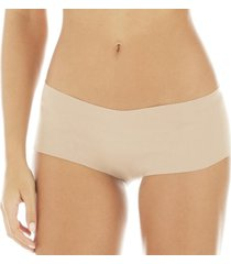 calcinha zee rucci boxer nude cotton bege