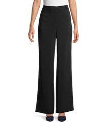 donna karan new york women's wide-leg trousers - black - size 2