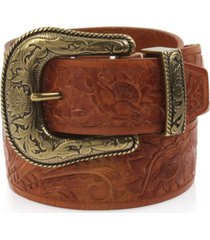 frye and co tooled-leather western belt