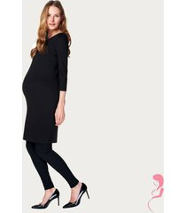 noppies zwangerschapsjurk positiejurk 3/4 mouw zwart