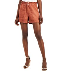 i.n.c. petite paperbag waist shorts, created for macy's