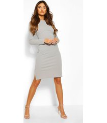 corset detail midi dress, light grey