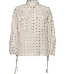 mentha overhemd met lange mouwen crème munthe