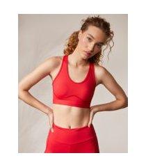 amaro feminino top fitness biodegradável alças cruzadas, vermelho