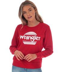 wrangler womens crew sweatshirt size 12-14 in red