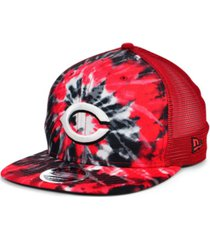 new era cincinnati reds tie dye mesh back 9fifty cap