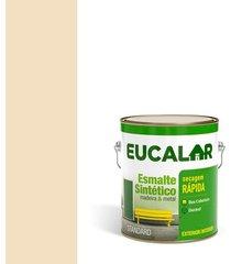 tinta esmalte sintético brilhante 3,6 litros areia - eucalar - eucatex
