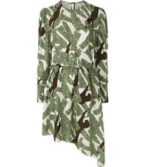 adriana degreas printed short dress - green
