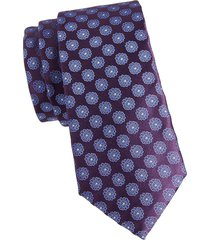 canali men's floral medallion tie - navy