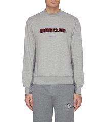 logo velvet flock print sweatshirt
