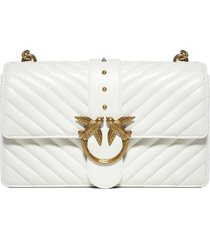 pinko love classic icon quilted leather bag