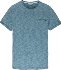 blauw cast iron t-shirt gemeleerd ronde hals