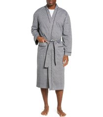 men's majestic international marbella stretch sateen robe, size one size - black