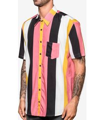 camisa hermoso compadre casual rosa - kanui