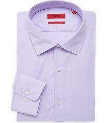 sharp-fit dotted cotton dress shirt
