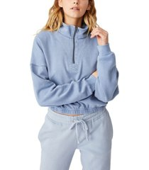 cotton on women's paris quarter zip thru sweatshirt