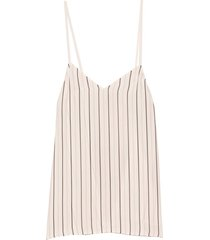 anna stripe cami in ivory/black multi