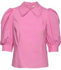 dunya blus långärmad rosa custommade