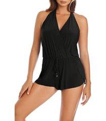 women's magicsuit bianca one-piece romper swimsuit, size 8 - black
