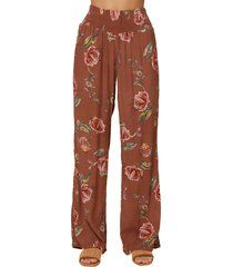 women's o'neill johnny floral print wide leg pants
