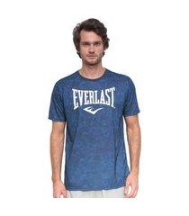 camiseta everlast estampa masculina - azul