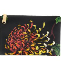 dsquared2 sea lily print clutch bag - black