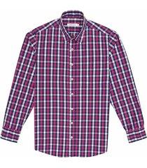 camisa casual manga larga a cuadros regular fit para hombre 97541