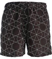 short estampado hosh wear geo preta - preto - masculino - poliã©ster - dafiti