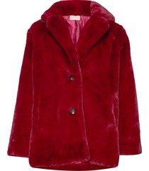 jennabel jacket outerwear faux fur rood unmade copenhagen
