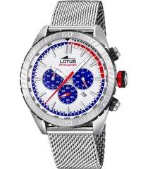 reloj 18679/a chrono plateado lotus
