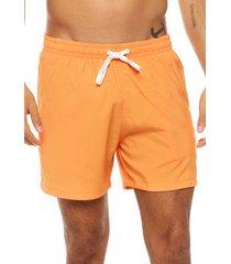 short de baño naranja boardwise liso
