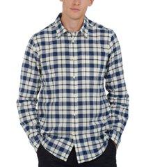 barbour men's sealton tailored-fit check oxford shirt